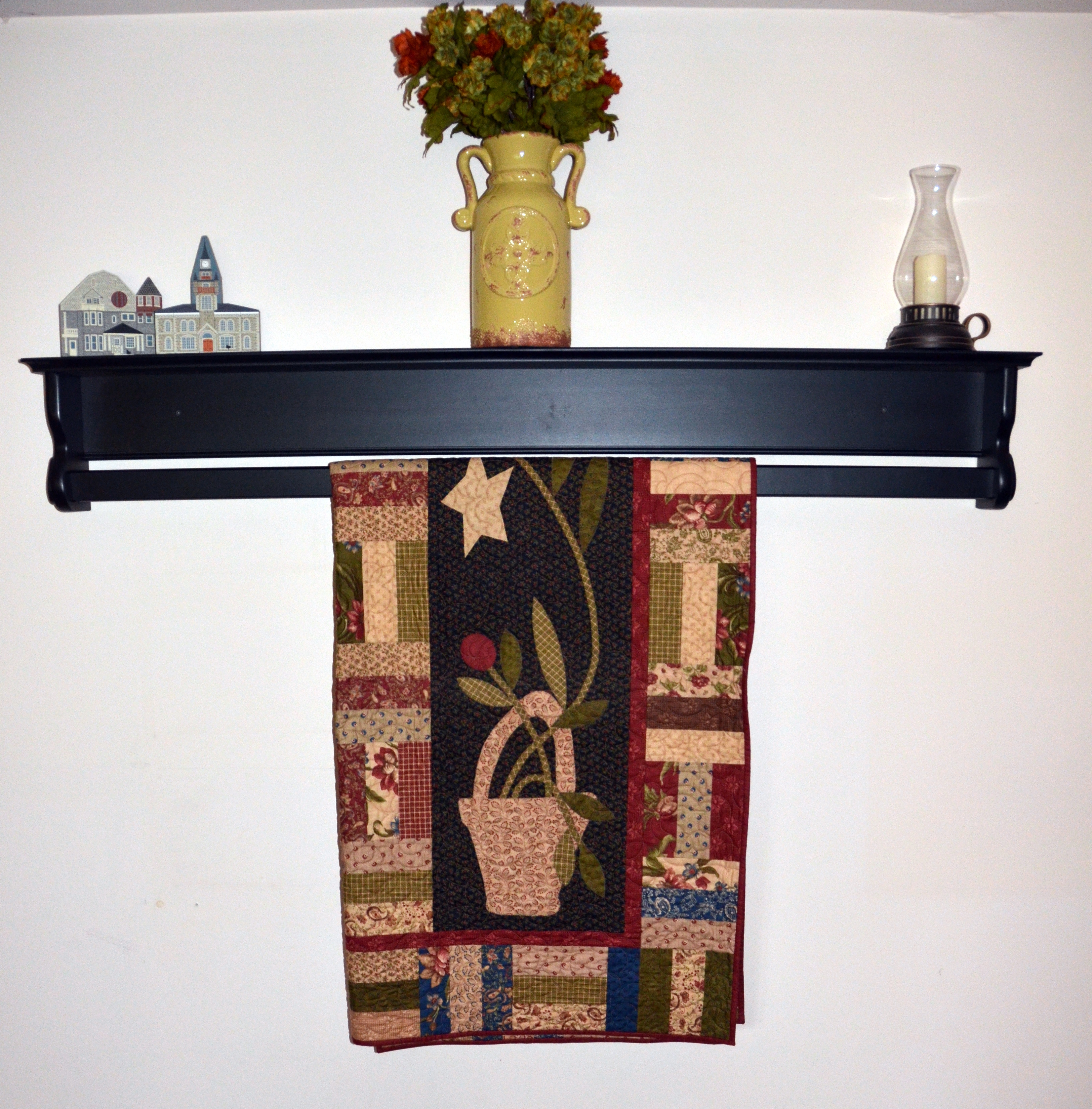 Wooden Hanging Quilt Shelf - Wall Hanger for Sale | DWR Custom ... : quilt wall hangers wooden - Adamdwight.com