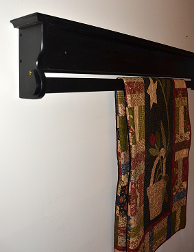 Wooden Hanging Quilt Shelf - Wall Hanger for Sale | DWR Custom ... : quilt shelf wall hanger - Adamdwight.com