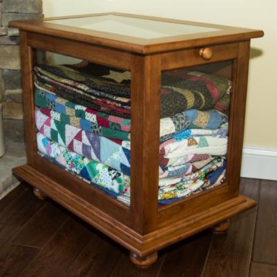 Quilt Display Cabinet | DWR Custom Woodworking : quilt display racks - Adamdwight.com
